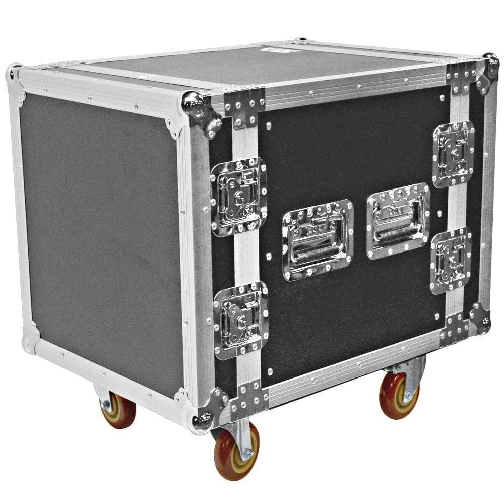 10 Space Ata Rack Case With Casters Wheels 19 Quot Pa Dj Wood Rack Case Seismic Audio
