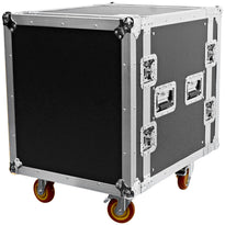 SATAC12U - Heavy Duty 12 Space ATA Rack Case with 4 Inch Casters - 12U Server Case
