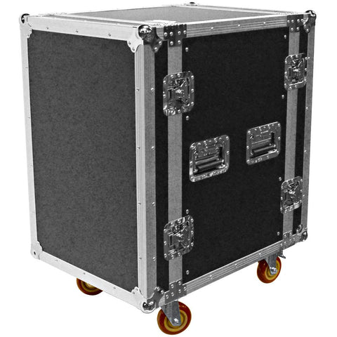 SATAC16U - Heavy Duty 16 Space ATA Rack Case with 4 Inch Casters - 16U Server Case