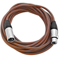 SAXLX-25 - Brown 25 Foot XLR Microphone Cable
