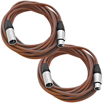 SAXLX-25 - Pair of Brown 25 Foot XLR Microphone Cables