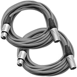 SAXLX-25 - Pair of Gray 25 Foot XLR Microphone Cables