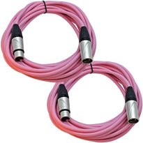 SAXLX-25 - Pair of Pink 25 Foot XLR Microphone Cables