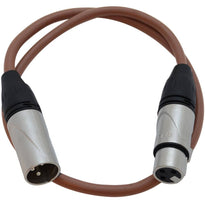SAXLX-2 - Brown 2 Foot XLR Patch Cable