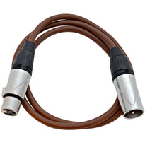 SAXLX-3 - Brown 3 Foot XLR Patch Cable