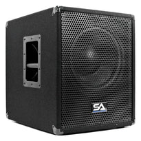 "Shockwave-12 - Powered 12"" Pro Audio/DJ Subwoofer Cabinet with Class D Amp 800 Watts"