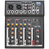 Slider4-BT- 4 Channel Mixer Console with USB and Bluetooth Streaming