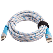 Top Dog Cables - TD-01WBB12 - Gold Premium 12' High Speed HDMI Cable with Ethernet - White/Blue - 3D HD Gaming Systems PC DVD TV Blu Ray