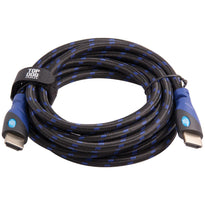 Top Dog Cables - TD-03BKBL9 - Gold Premium 9' High Speed HDMI Cable with Ethernet - Black/Blue - 3D HD Gaming Systems PC DVD TV Blu Ray