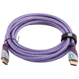 Top Dog Cables - TD-05PW10 - Gold Premium 10' High Speed HDMI Cable with Ethernet - Purple/White - 3D HD Gaming Systems PC DVD TV Blu Ray