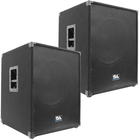 "Aftershock 18 - 18"" Powered Pro Audio Subwoofer Cabinet (Pair)"