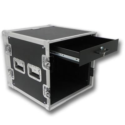 10 Space Rack Case with 2 Space Drawer