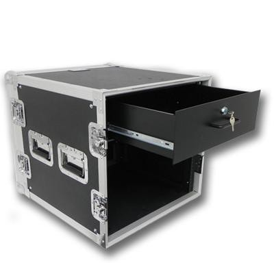 10 Space Rack Case with 3 Space Drawer
