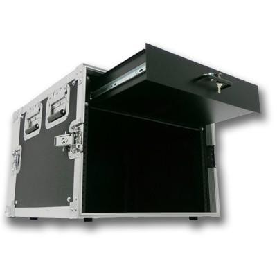 8 Space Rack Case with 2 Space Drawer