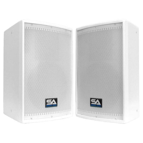 "Arctic 10 Pair of Premium White 10"""" Loudspeakers or Monitors - Church Series"