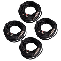"BS12Q100 - 4 Pack of 100 Foot Banana to 1/4"" Speaker Cables -12 Gauge 2 Conductor"