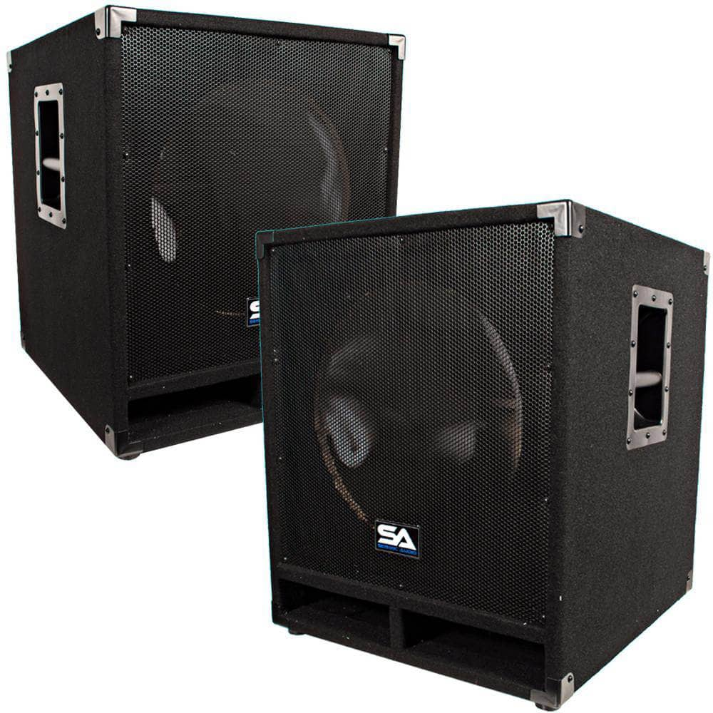 Pair Of Empty 15 Inch Subwoofer Bass Cabinet | Empty 15 Inch DJ Subwoofer  Cabinet | Seismic Audio U2013 Seismicaudio