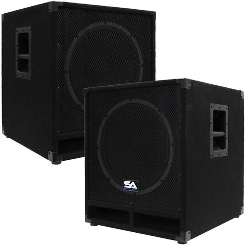 "Baby Tremor 15-PW - Powered 15"""" Pro Audio Subwoofer Cabinet (Pair)"