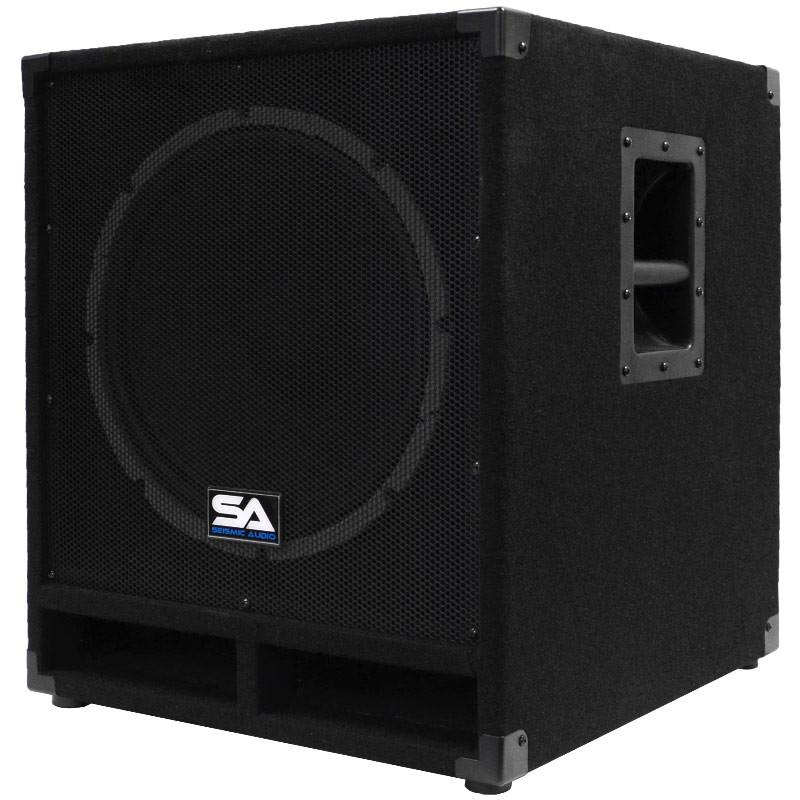Powered 15 Inch Subwoofer Bass Cabinet 300 Watts Rms