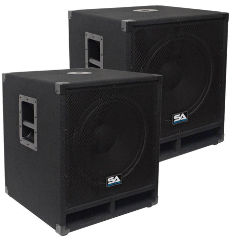 "Baby Tremor 15 - 15"" Pro Audio Subwoofer Cabinet (Pair)"