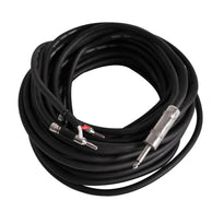 "BS12Q50 - 50 Foot Banana to 1/4"""" Speaker Cable -12 Gauge 2 Conductor"