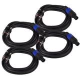 B12SP10 - 4 Pack of  10 Foot Banana to Speakon Speaker Cables -12 Gauge 2 Conductor