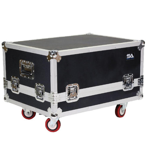 CLA-FC4 - Flight Case for Compact Line Array Speakers with Casters