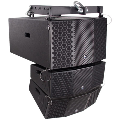 Compact 3x10 Line Array Subwoofer, Pair of Compact 2x5 Line Array Speakers, & Mounting Frame