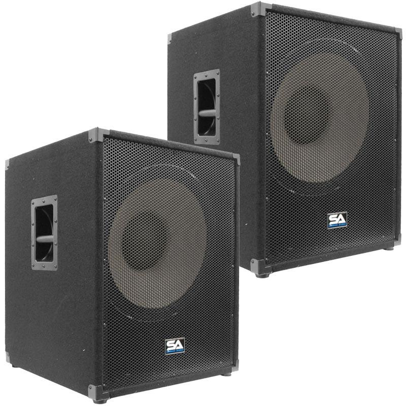 Pair Of 18 Inch Subwoofer Bass Cabinets 1000 Watts Rms