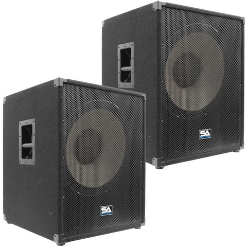 "Enforcer II 18"" Chest Thumping Pro Audio Subwoofer Cabinet (Pair)"