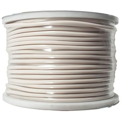 White 22 Gauge Instrument/Guitar Cable Cord - 100 Meter Spool