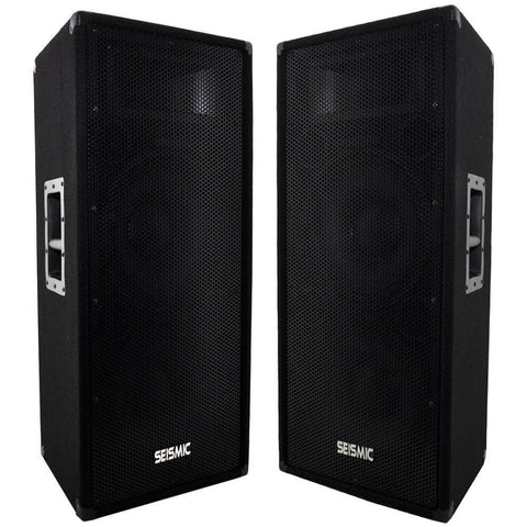 "FL-122P - Pair of Dual Premium 12"" PA/DJ Speaker Cabinets with Titanium Horns"