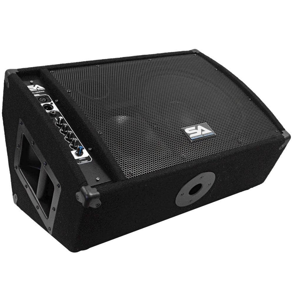 Active 12 Inch Floor Monitor | Powered Stage Monitor | Active Studio Monitor  | 7 Ply Birch Plywood | Titanium Horn | Powered Pa Monitor | Active DJ  Monitor ...