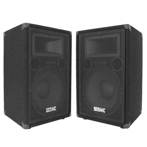 "FL-12P - Pair of Premium 12"" PA/DJ Speaker Cabinets with Titanium Horns"