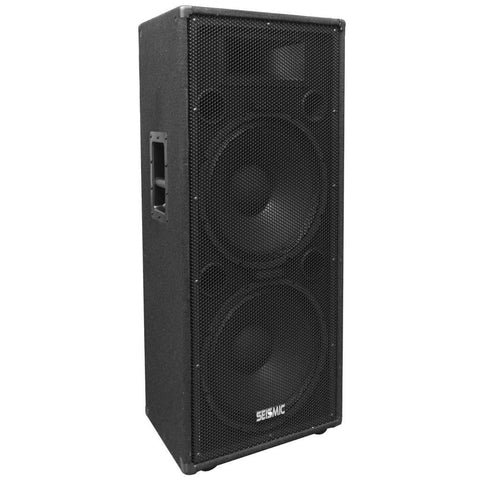 "FL-155PC - Dual Premium 15"" PA/DJ Speaker Cabinet with Titanium Horn - Wheel Kit and Rear Handle"