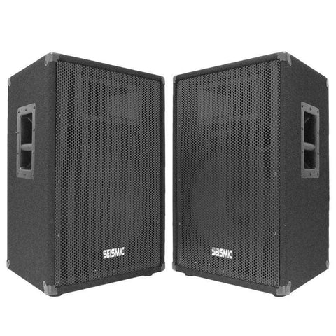 "FL-15P - Pair of Premium 15"" PA/DJ Speaker Cabinets with Titanium Horns"