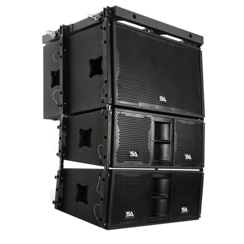Passive 2x15 Line Array Subwoofer Pair Of 2x10 Line Array