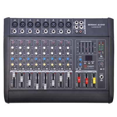 LandSlide 8P - 8 Channel DSP Professional Powered Mixer