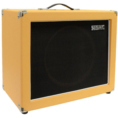 "Luke-1x12C - Contemporary Empty 12"" Guitar Cabinet - Orange Tolex/Black Cloth Grill"