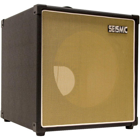"Luke-1x12TR - Traditional Empty 12"" Guitar Cabinet - Black Tolex/Wheat Cloth Grill"