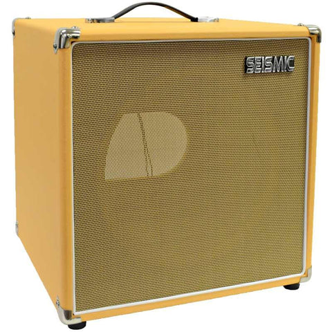 "Luke-1x12TR - Traditional Empty 12"" Guitar Cabinet - Orange Tolex/Wheat Cloth Grill"