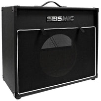 "Luke-1x12V - Vintage Empty 12"" Guitar Cabinet - Black Tolex/Black Cloth Grill"