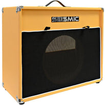"Luke-1x12V - Vintage Empty 12"" Guitar Cabinet - Orange Tolex/Black Cloth Grill"