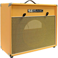 "Luke-1x12V - Vintage Empty 12"" Guitar Cabinet - Orange Tolex/Wheat Cloth Grill"