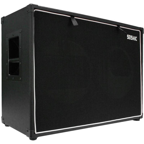 "Luke-2x12TR - Traditional Empty Dual 12"" Guitar Cabinet - Black Tolex/Black Cloth Grill"