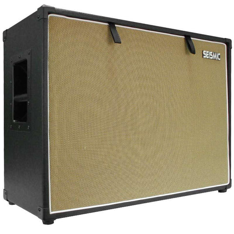 "Luke-2x12TR - Traditional Empty Dual 12"" Guitar Cabinet - Black Tolex/Wheat Cloth Grill"