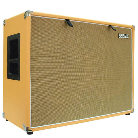 "Luke-2x12TR - Traditional Empty Dual 12"" Guitar Cabinet - Orange Tolex/Wheat Cloth Grill"