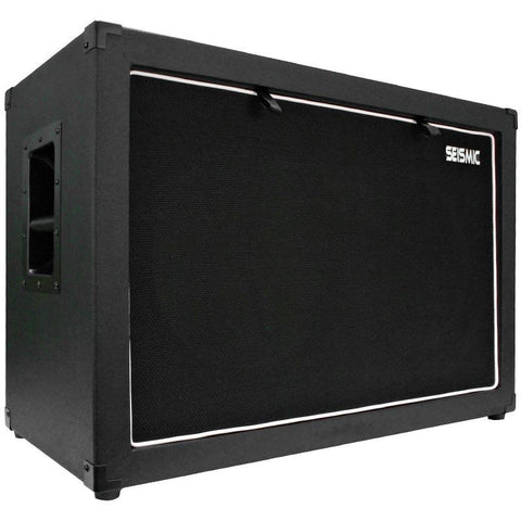 "Luke-2x12C - Contemporary Empty Dual 12"" Guitar Cabinet - Black Tolex/Black Cloth Grill"
