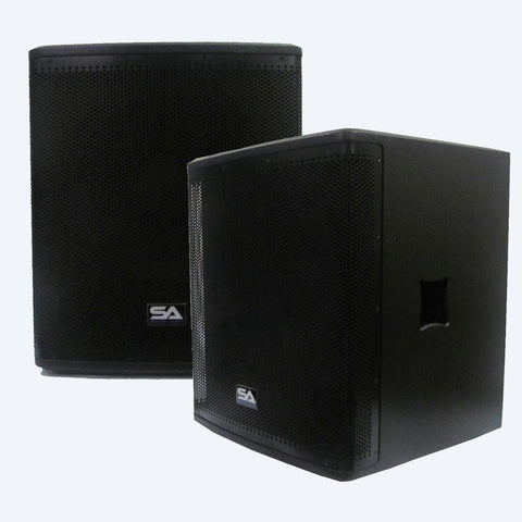 "Magma-118S-PW - Active 18"" High Power Subwoofer Cabinets (Pair)"