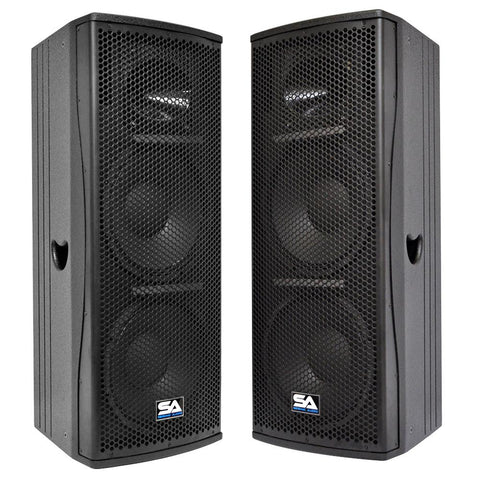 "Magma-212-PW - Pair of Premium Active Dual 12"" 2-Way Bi-Amp Loudspeaker Cabinets"